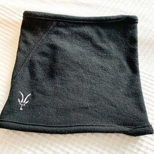 Ibex Black 100% Merino Wool Neck Warmer Gaiter